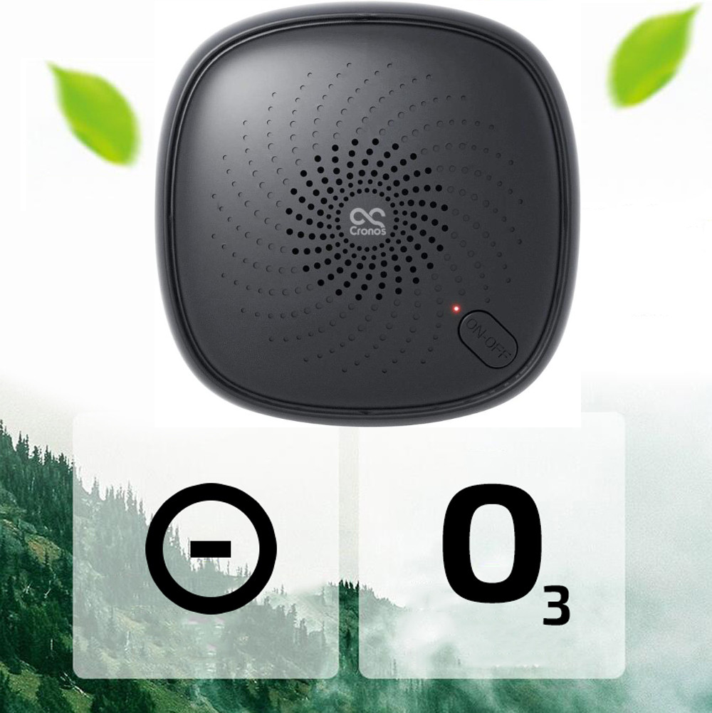 Czarny oczyszczacz powietrza i oznaczenie anionów i ozonu