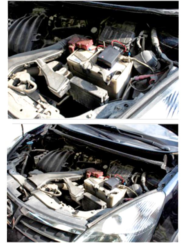 Odstraszacz kun i gryzoni zamontowany w samochodzie