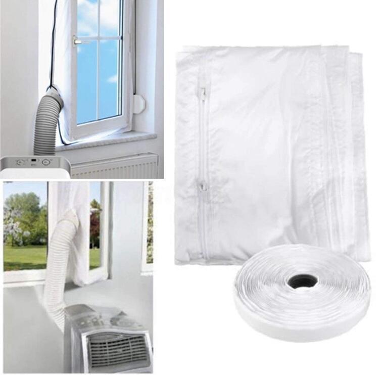 Uszczelka okienna do klimatyzatora zamontowana na oknie