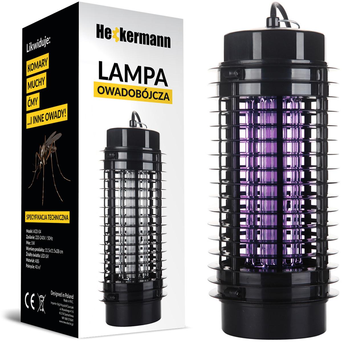 Lampa owadobójcza AGD-04 Heckermann