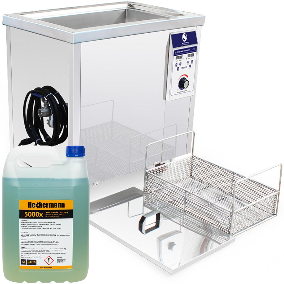 Myjka ultradźwiękowa SONIX 96L + 5L płyn + kosz+GW