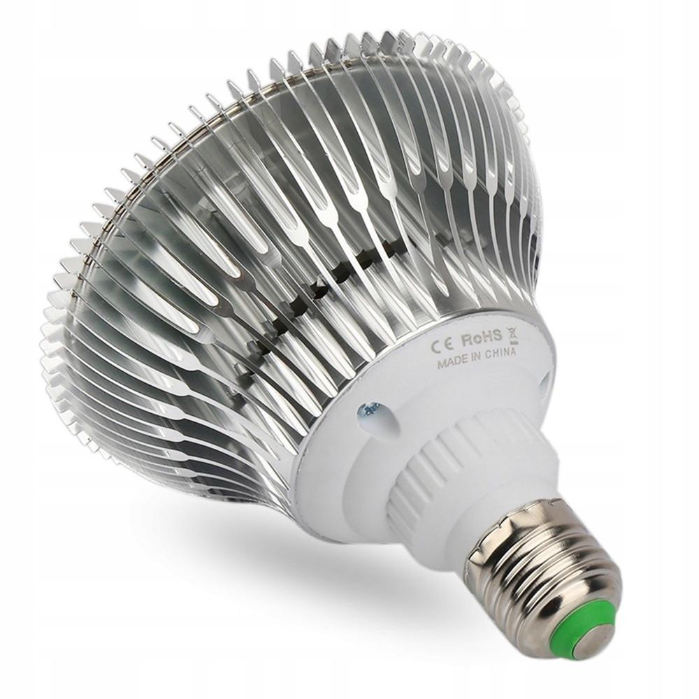 Żarówka LED do roślin od strony gwintu