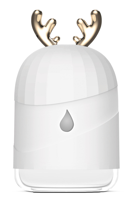 Biały nawilżacz powietrza Cronos Pearly na białym tle