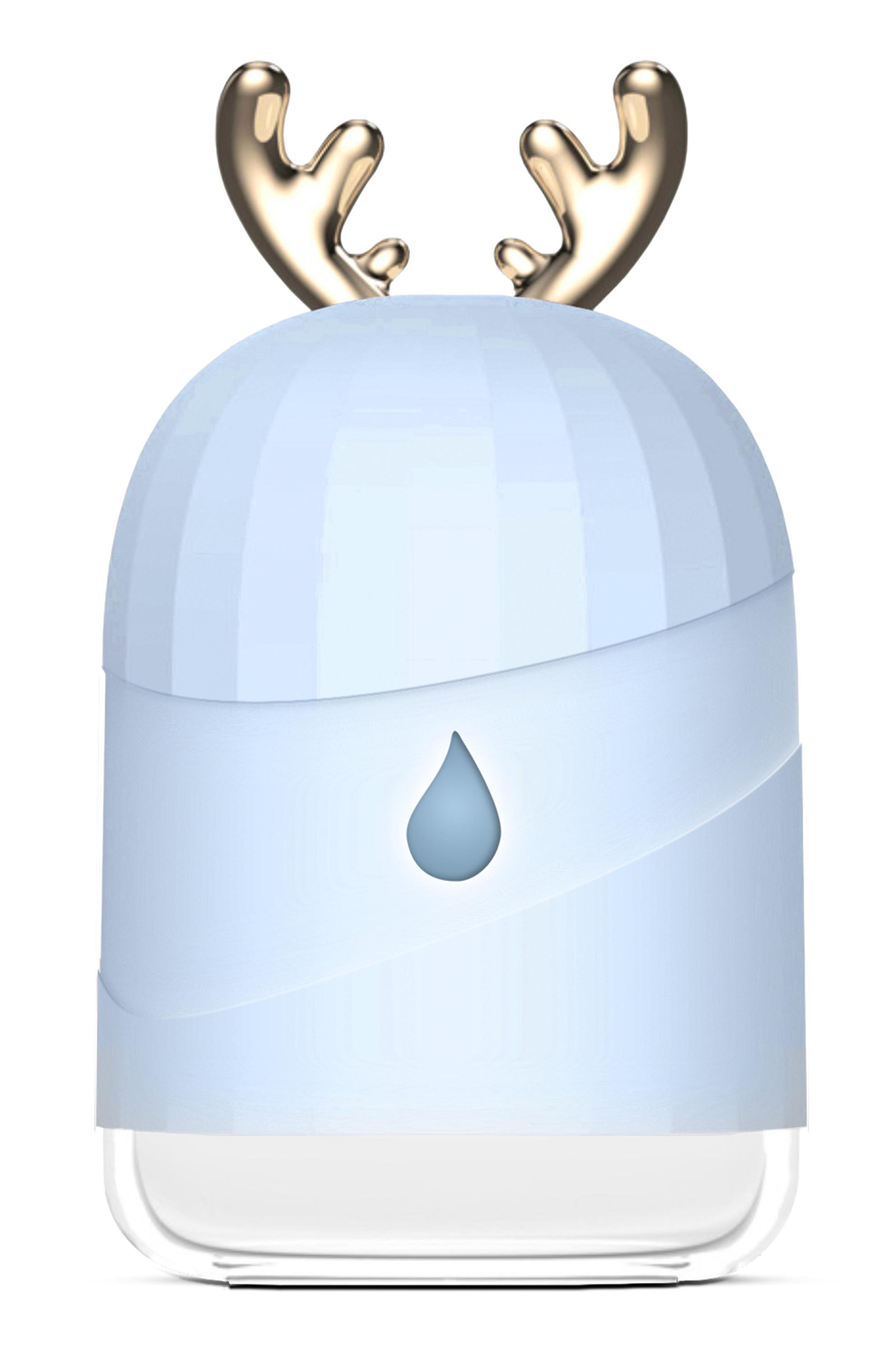 Błękitny nawilżacz powietrza Cronos Pearly na białym tle