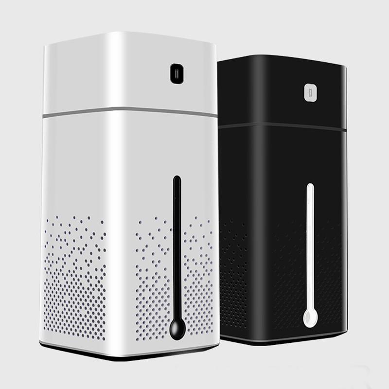 Biały i czarny nawilżacz powietrza Cronos Sprinkly