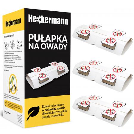 Pułapka lep na muchy i inne owady Heckermann 3 szt.