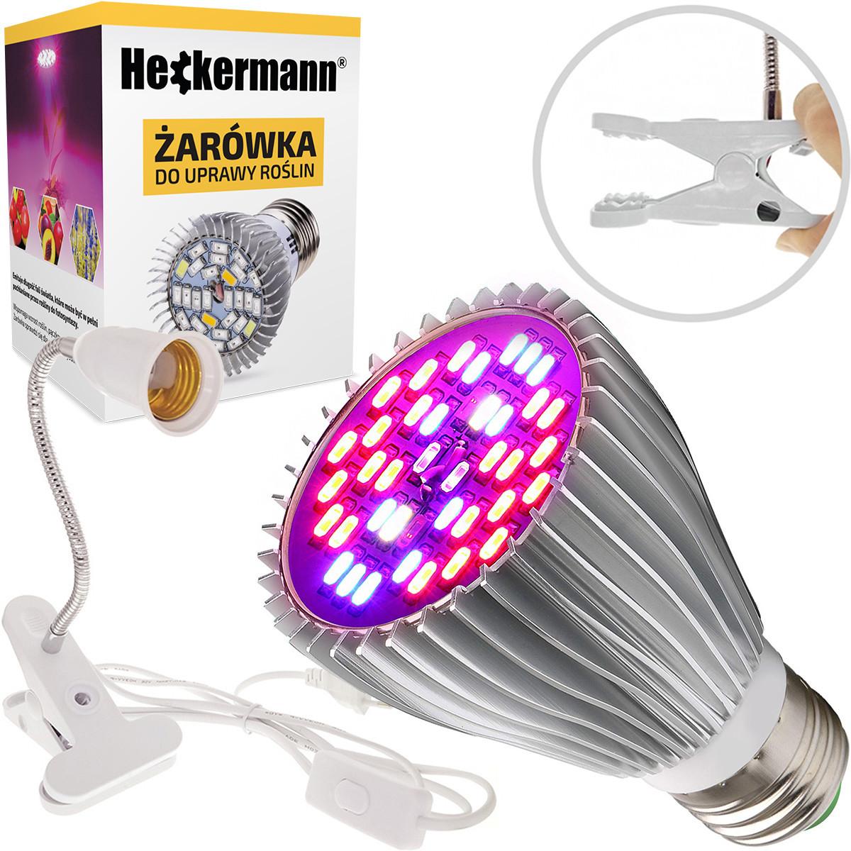Żarówka LED GROW E27 do roślin