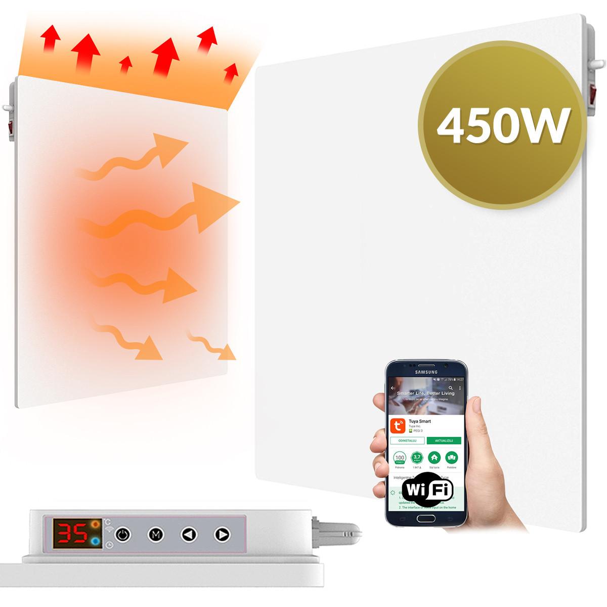 APP WiFi Panel IR podczerwień grzejnik CRONOS 450W