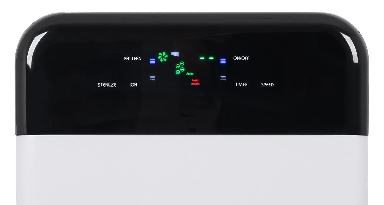 Zbliżenie na panel sterowania oczyszczacza powietrza Cronos Hepa I