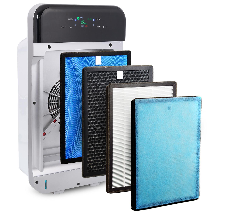 4 filtry w oczyszczaczu powietrza Cronos Hepa I
