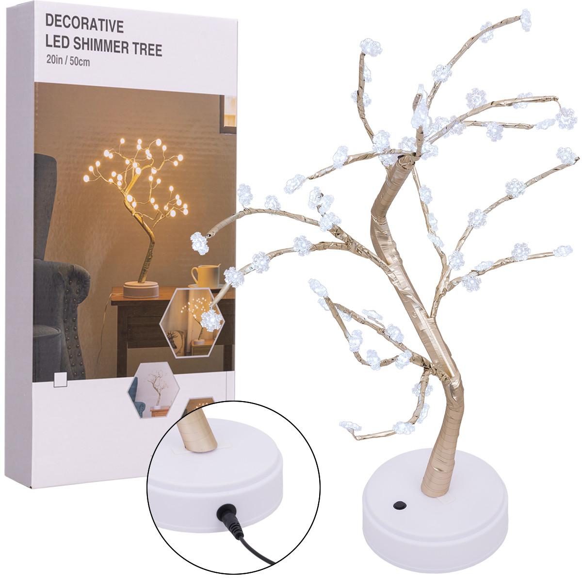 Srebrne drzewko, kabel i opakowanie