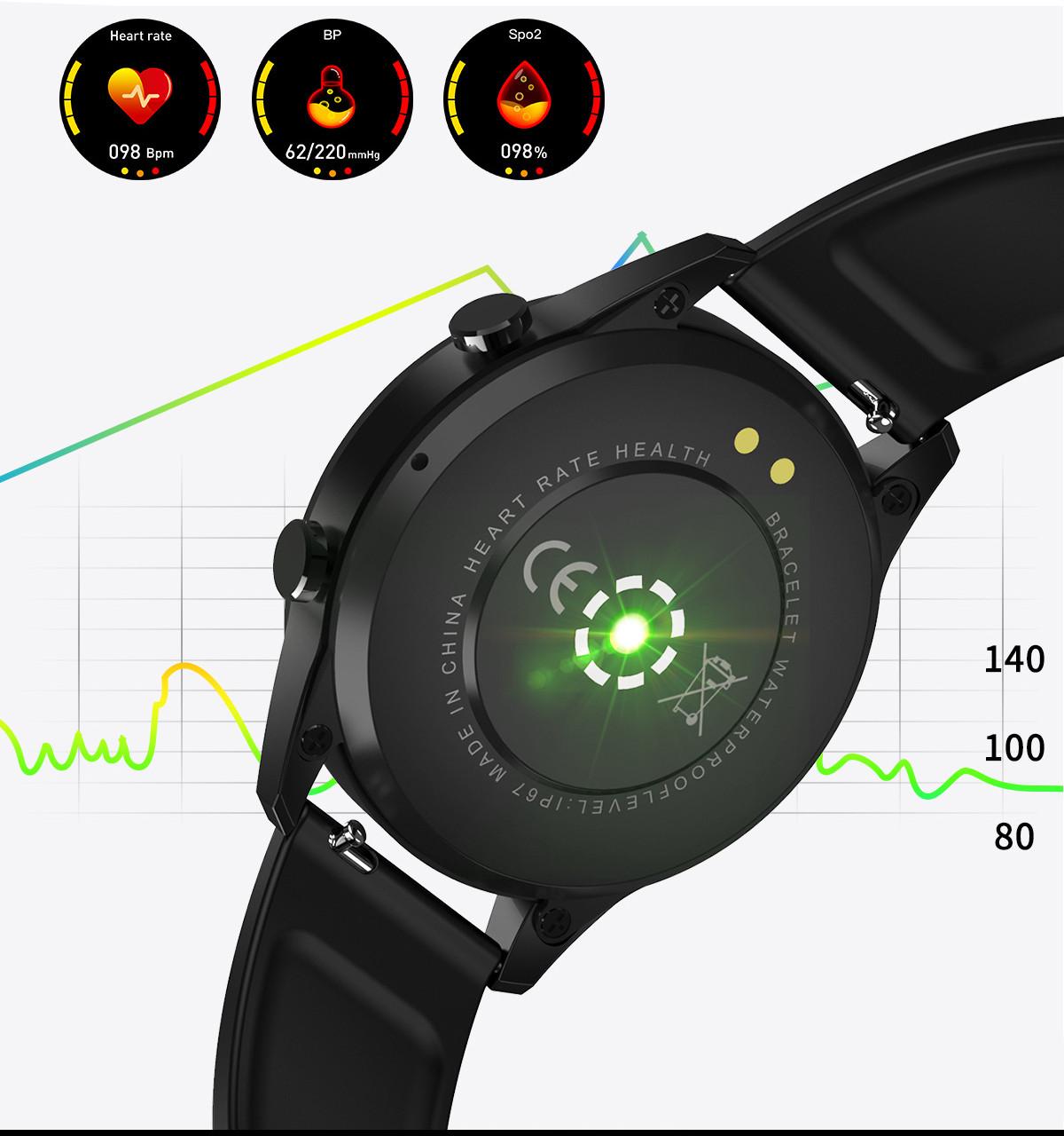 Smartwatch pokazany od tyłu