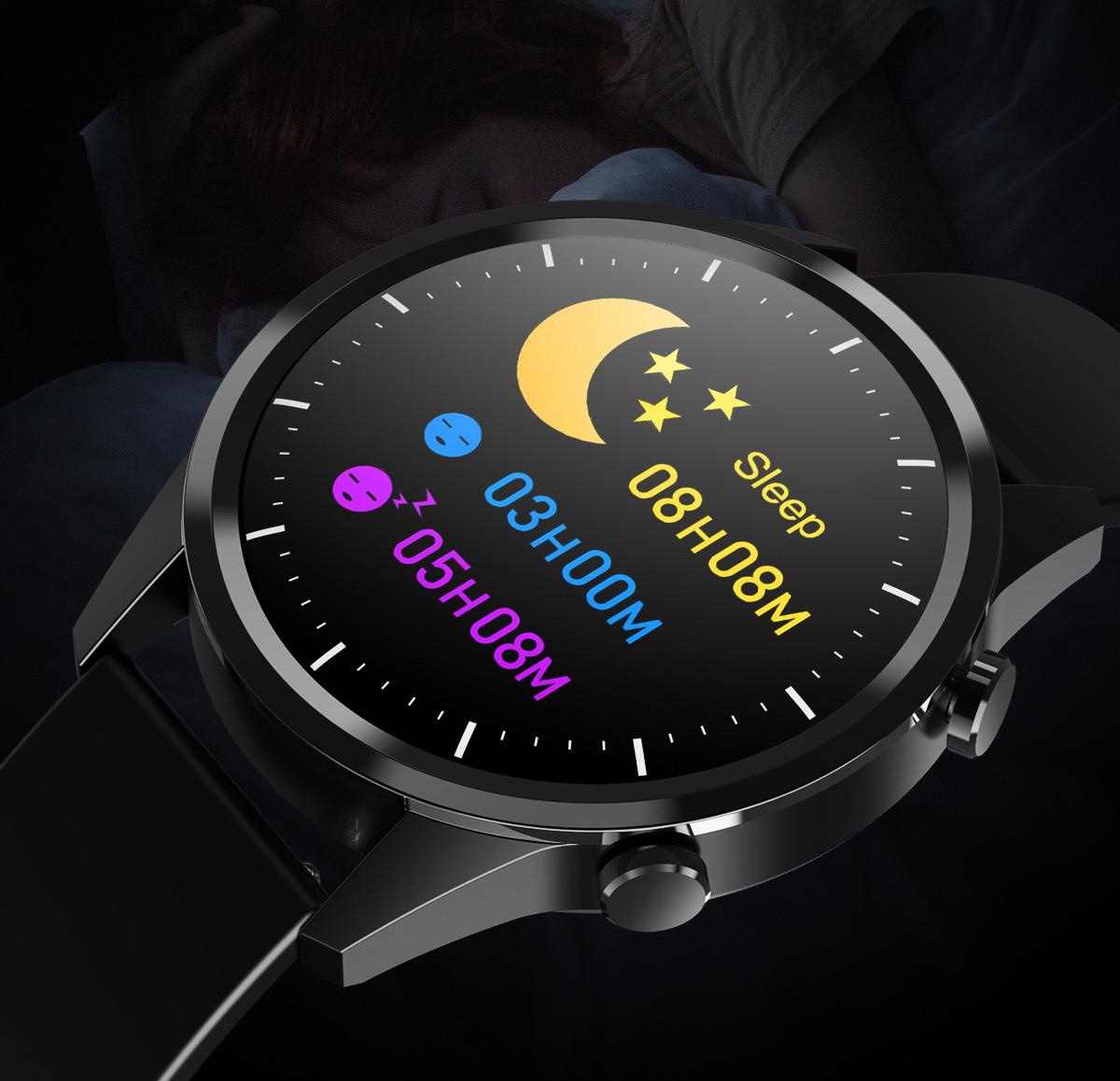 Smartwatch pokazujący długość snu