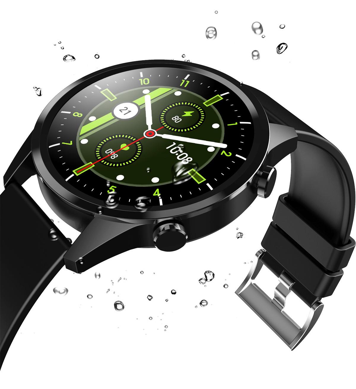 Smartwatch i kropelki wody