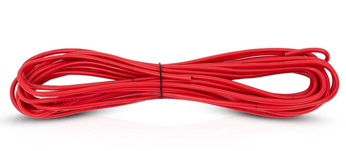 Czerwony przewód elektryczny