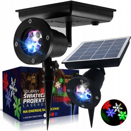 Solarny projektor laserowy świąteczny QX-053