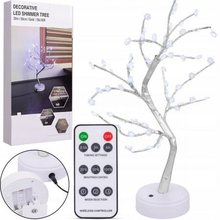 Drzewko LED świąteczne śnieżynki