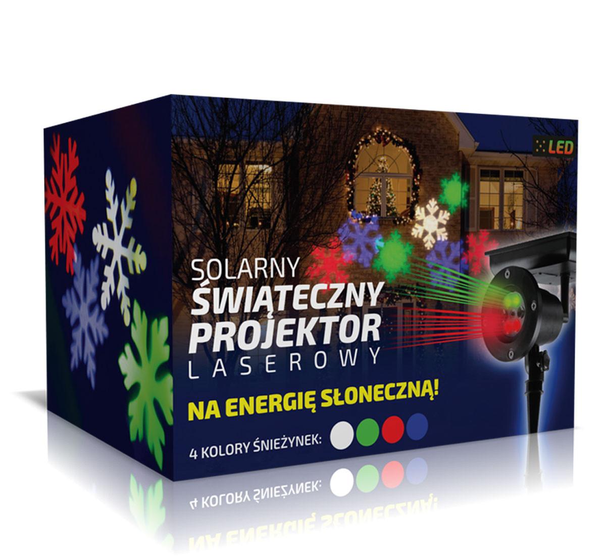 Pudełko do projektora laserowego świątecznego ze śnieżynkami