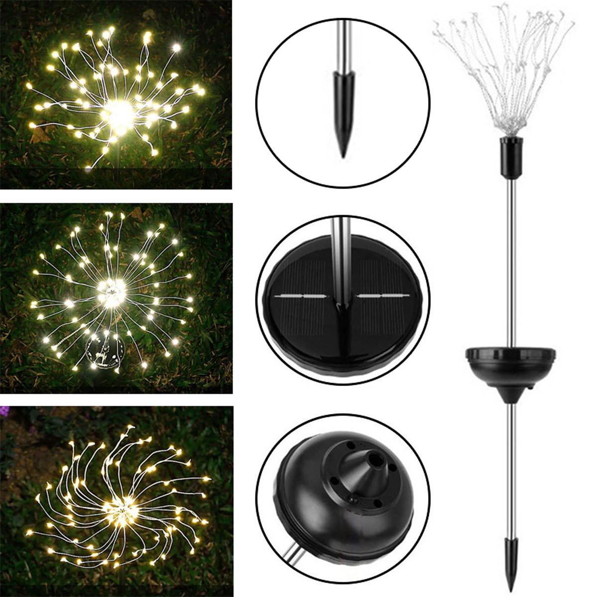 Zbliżenie na elementy budowy lampki LED fajerwerki