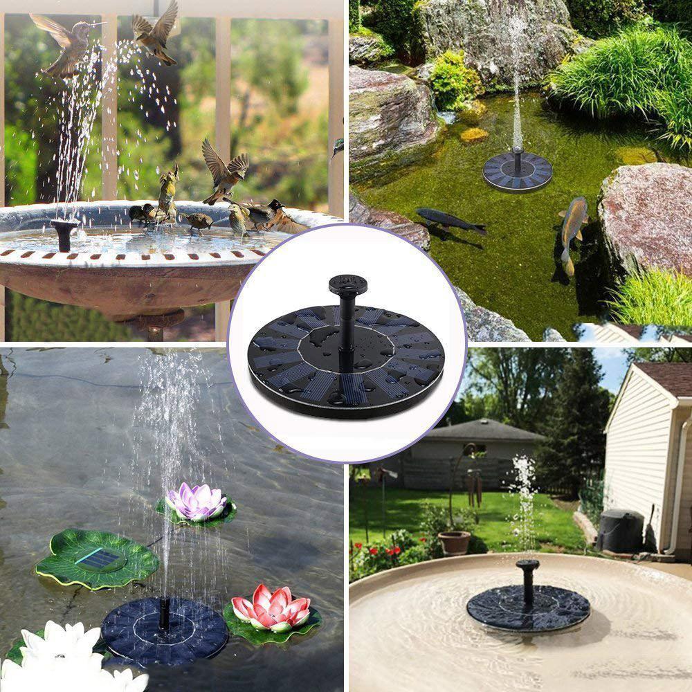 Fontanna ogrodowa zamontowana w różnych miejscach ogrodu