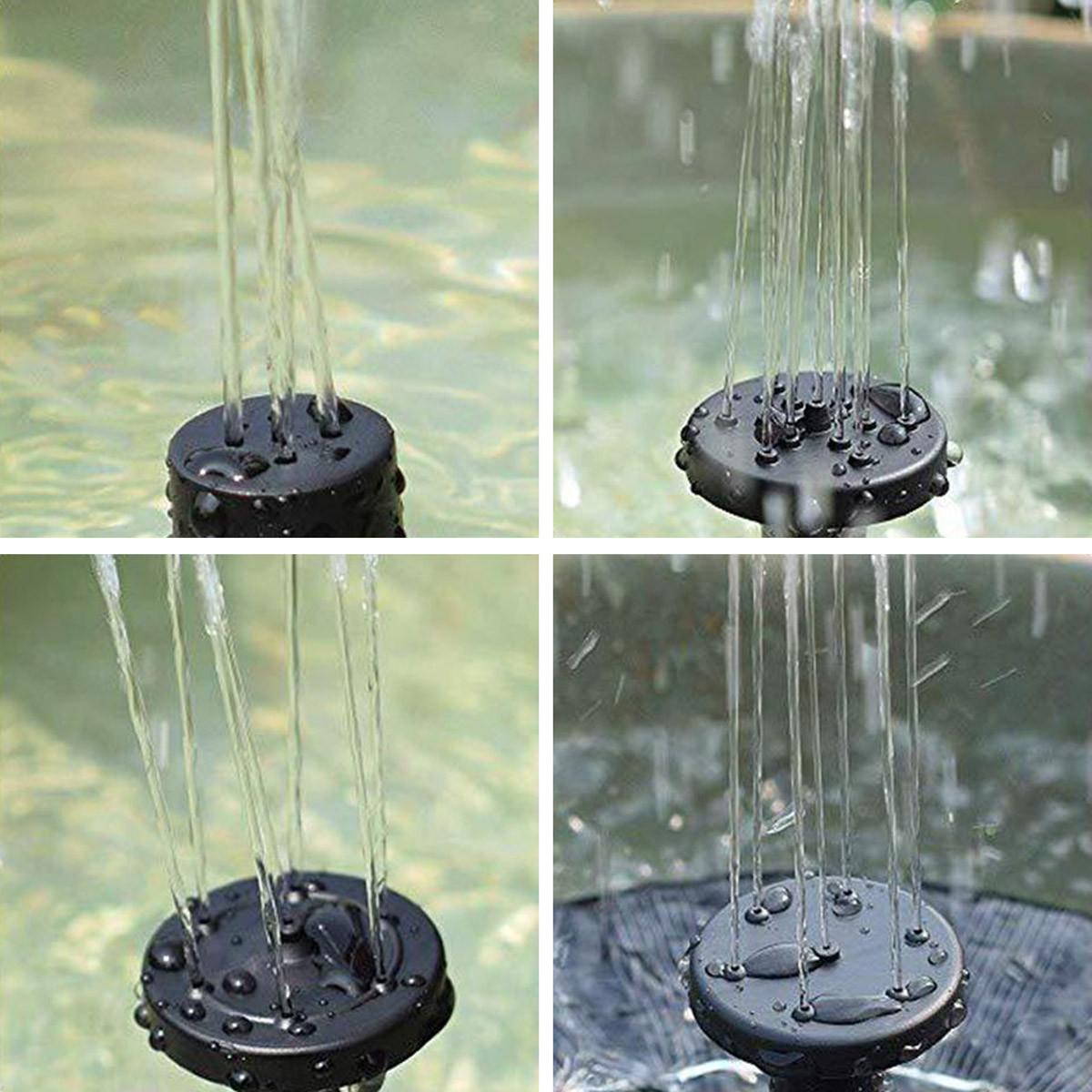 4 dysze do fontanny ogrodowej solarnej