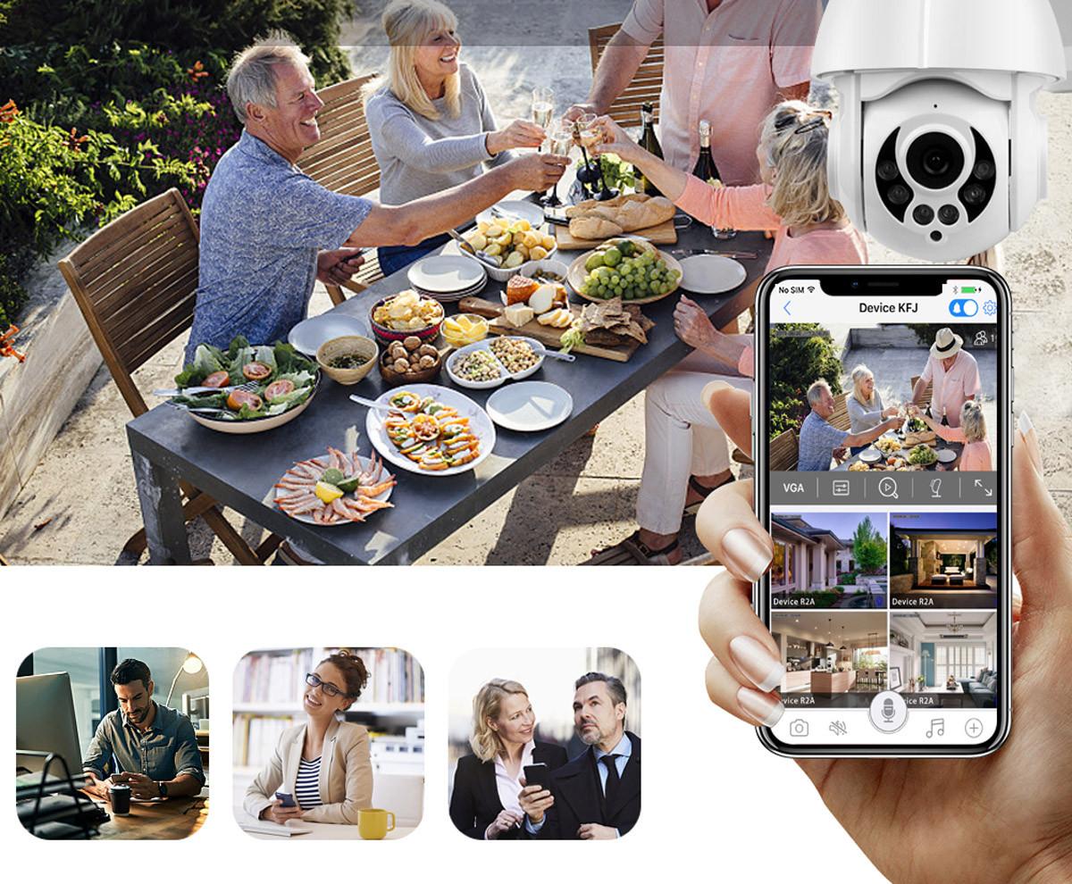 Kamera IP i obraz przesyłany z niej na telefonie