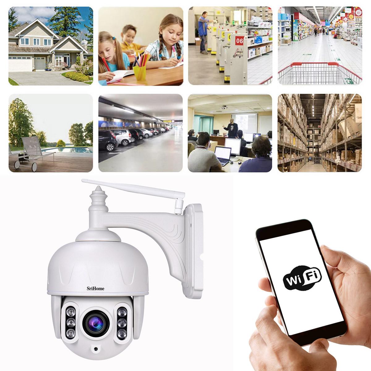 Kamera IP na białym tle