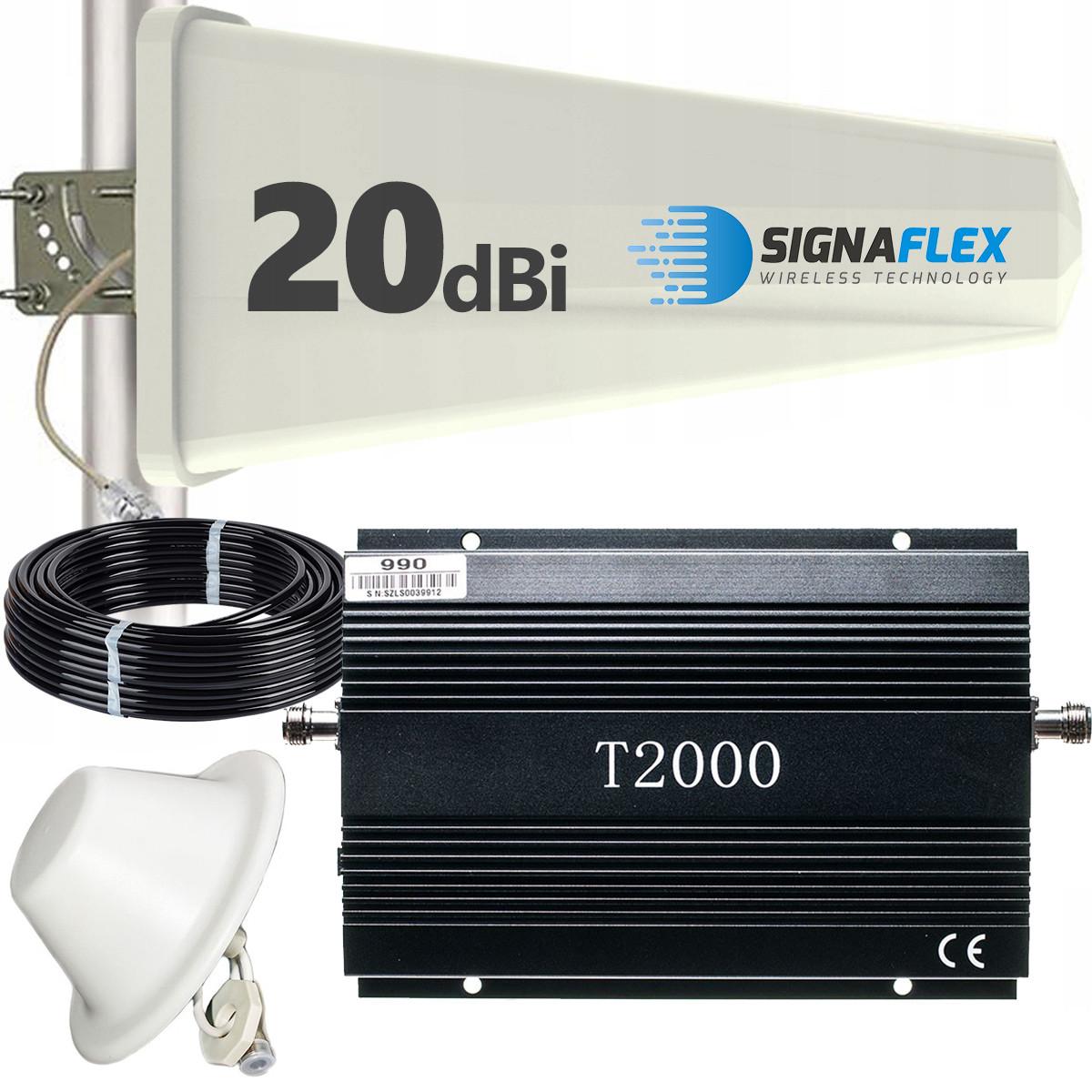 Komplet: wzmacniacz GSM T2000 + Tajfun z grzybkiem