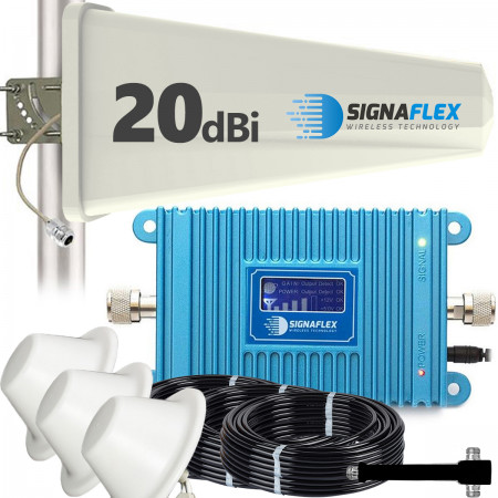 Komplet wzmacniacz GSM Blue LCD600 Tajfun z 2x grzybek