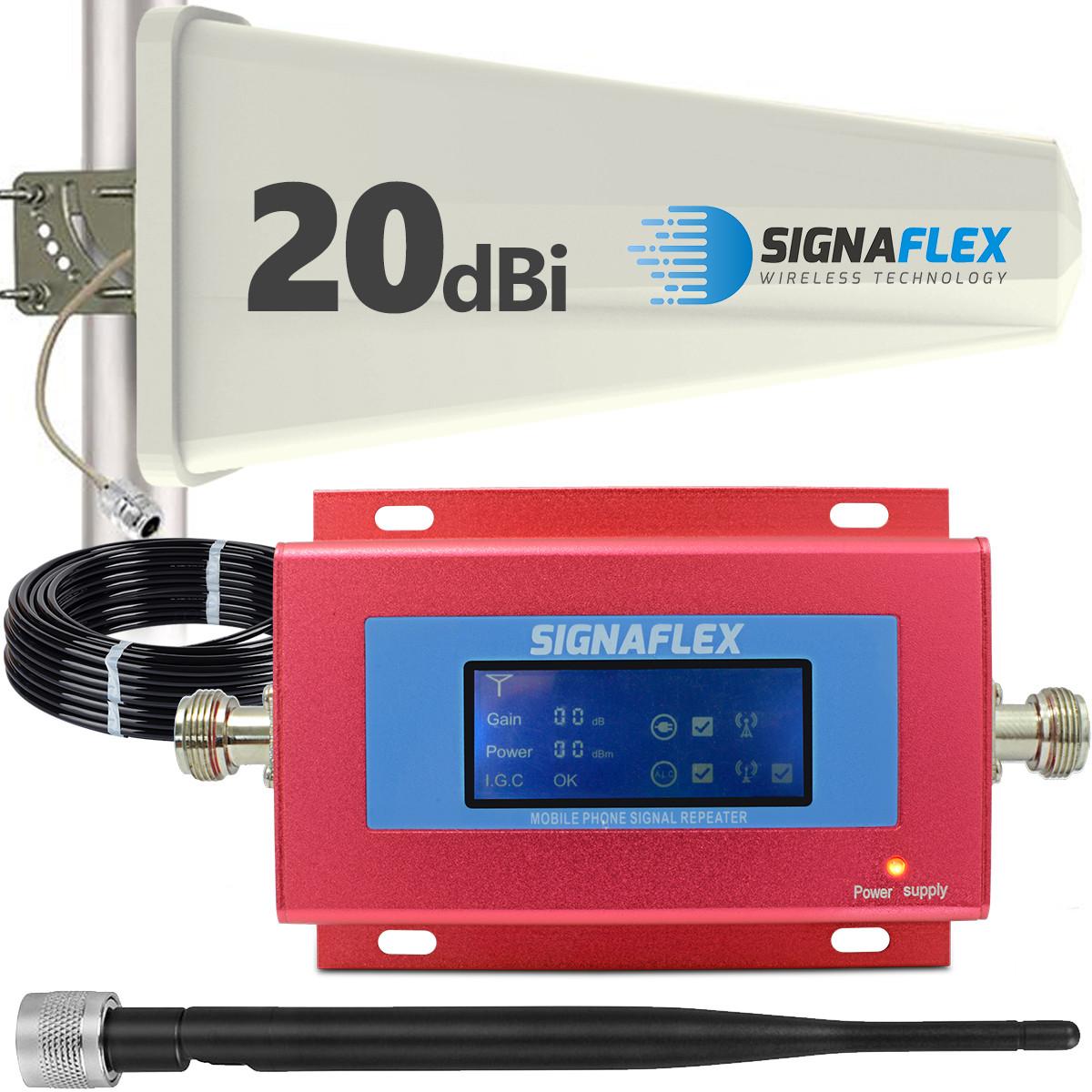 Komplet: wzmacniacz GSM RED + Tajfun z bat