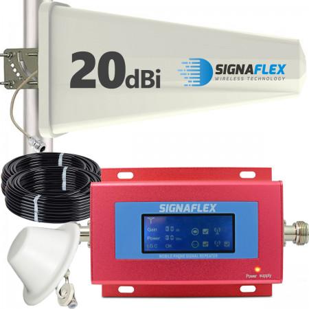 Komplet: wzmacniacz GSM RED + Tajfun z grzybkiem
