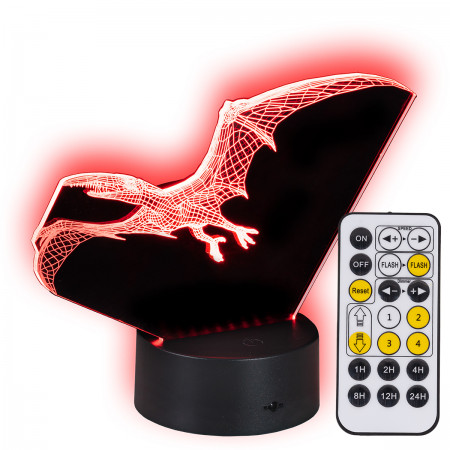 Lampka nocna 3D LED Dino