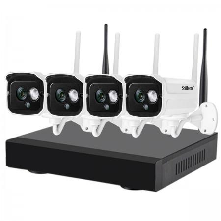 Kamery IP zewnętrzne SH024 + rejestrator Heckermann