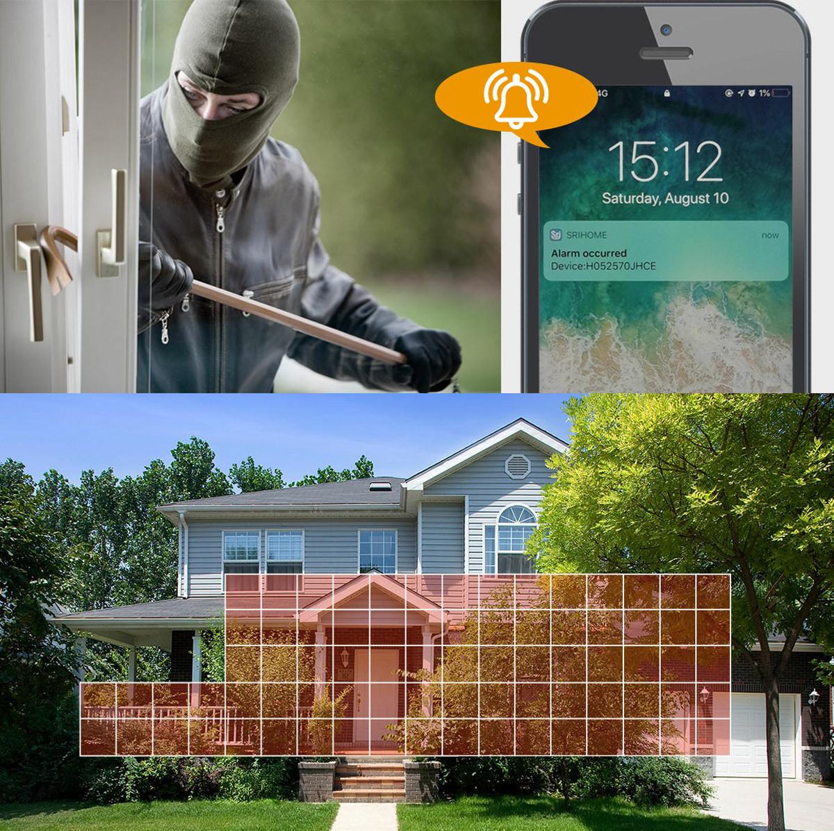 Włamywacz złapany na obrazie kamery IP zewnętrznej