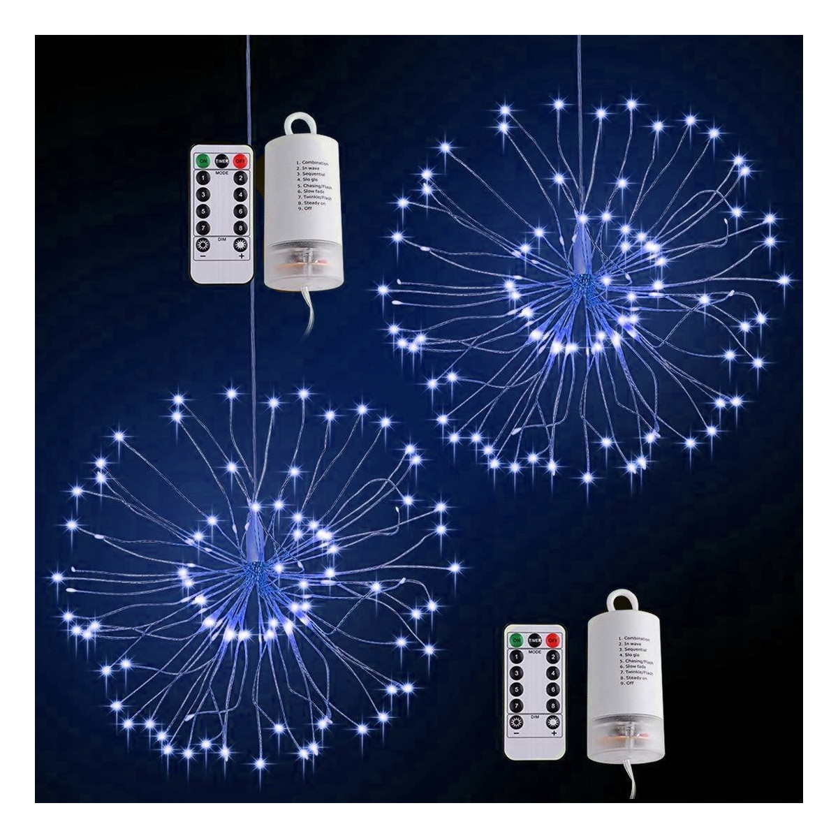 Lampki świąteczne fajerwerki 150 LED