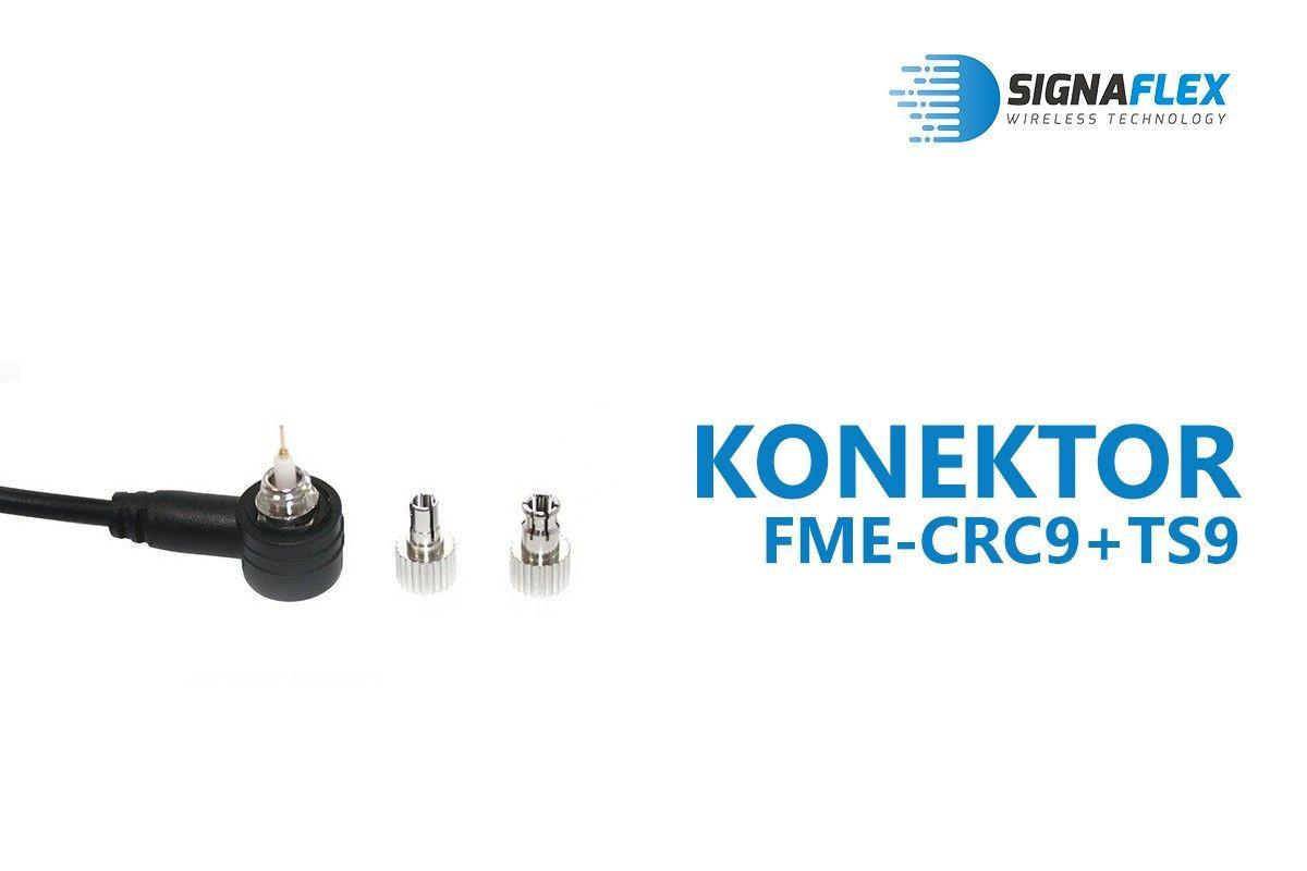 Konektor FMEm-CRC9+TS9 wymienny