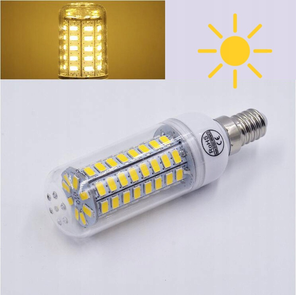Żarówka LED E27 i symbol słońca