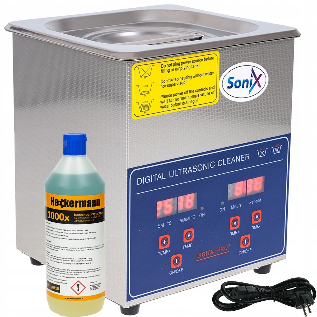 Myjka ultradźwiękowa PS-10A 2L