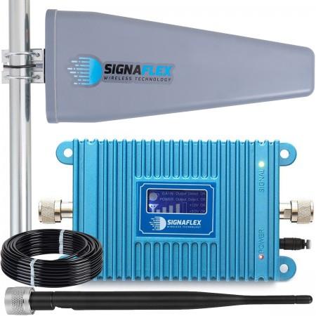 Komplet: wzmacniacz GSM Blue LCD + Tajfun II 15m z bat