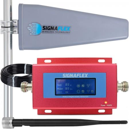 Komplet: wzmacniacz GSM RED + Tajfun II 15m z bat