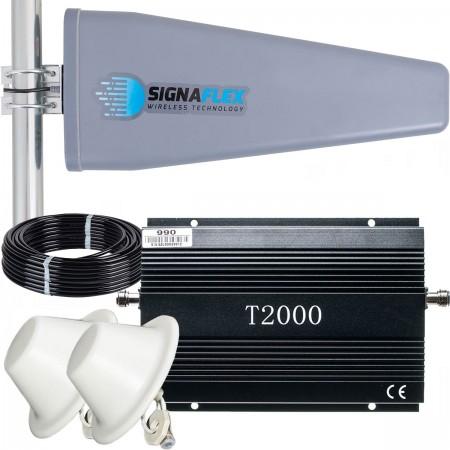 Komplet: wzmacniacz GSM T2000 + Tajfun II 15m z 2x grzybek
