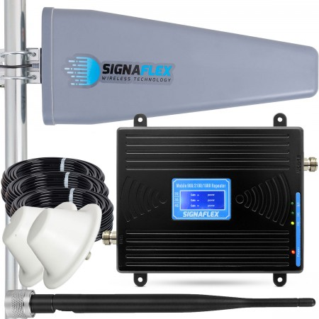 Komplet: wzmacniacz GSM/UMTS/DCS Black LCD Tajfun II 15m + 2x grzybek