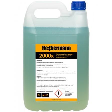 Płyn koncentrat do myjki ultradźwiękowej 2L Heckermann 2000x