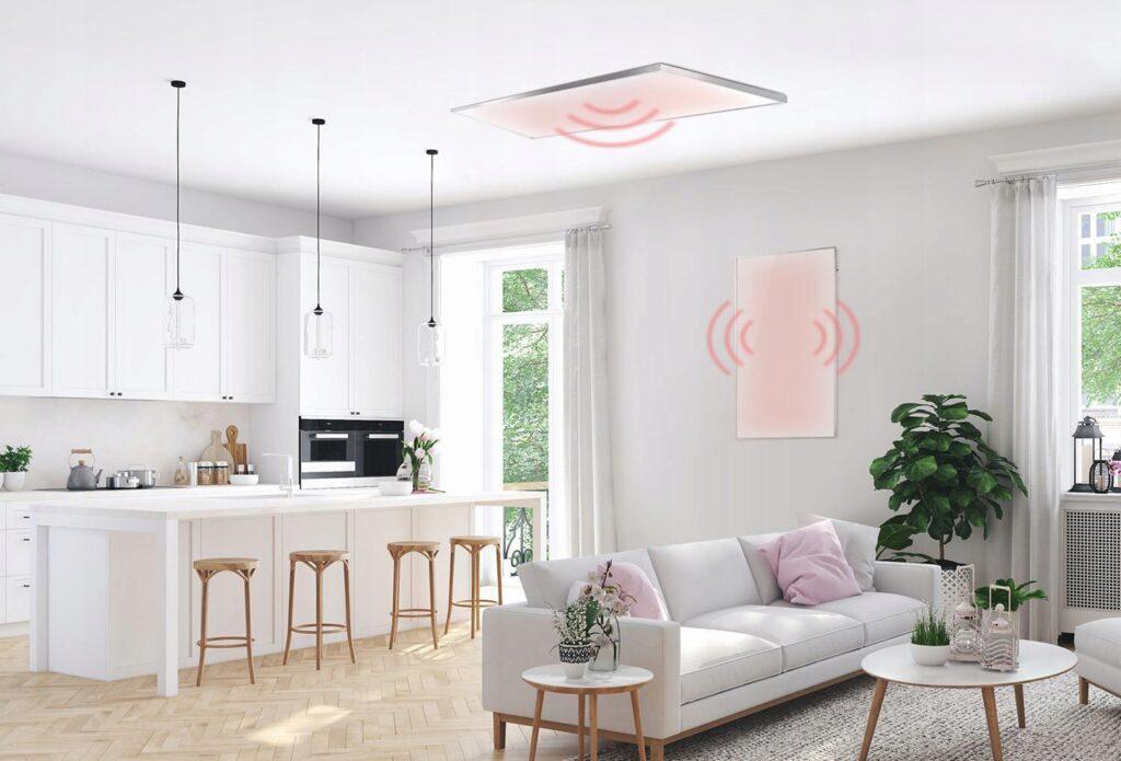 Ogrzewanie elektryczne na podczerwień zastosowane w domu