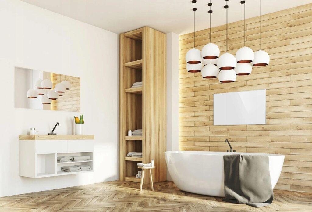 Ogrzewanie na podczerwień zamontowane w łazience