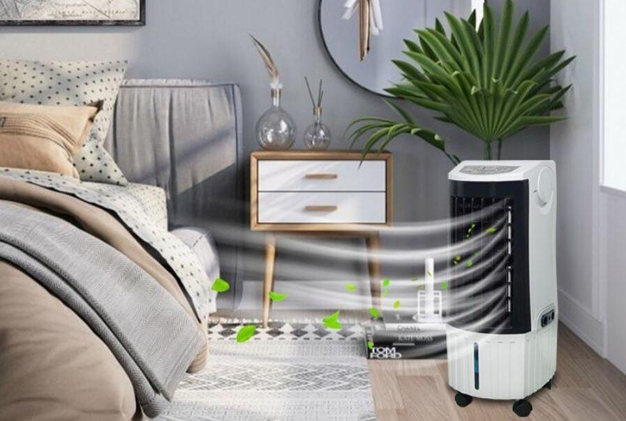 Klimator przenośny w sypialni