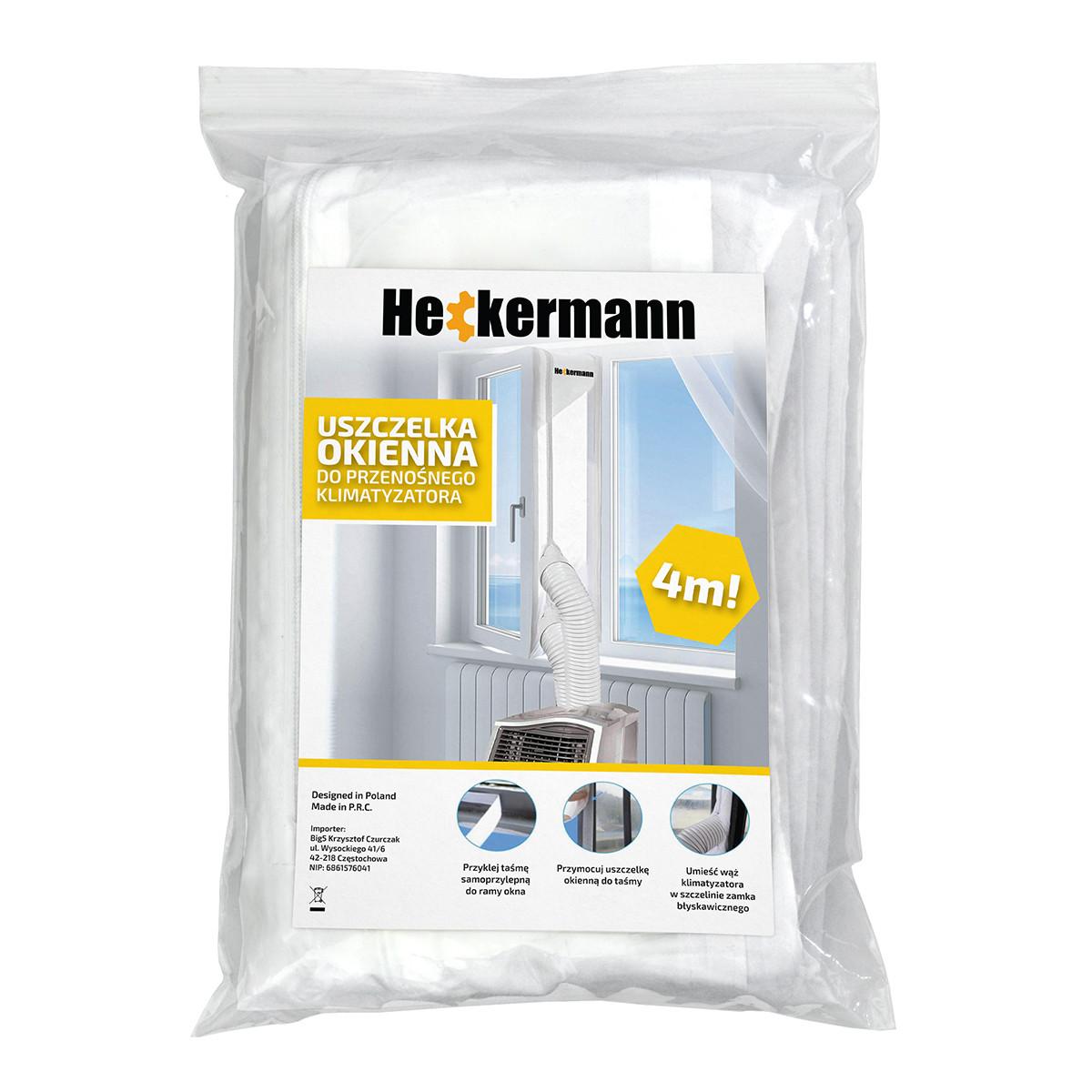 Uszczelka okienna, klimatyzator, napis Heckermann