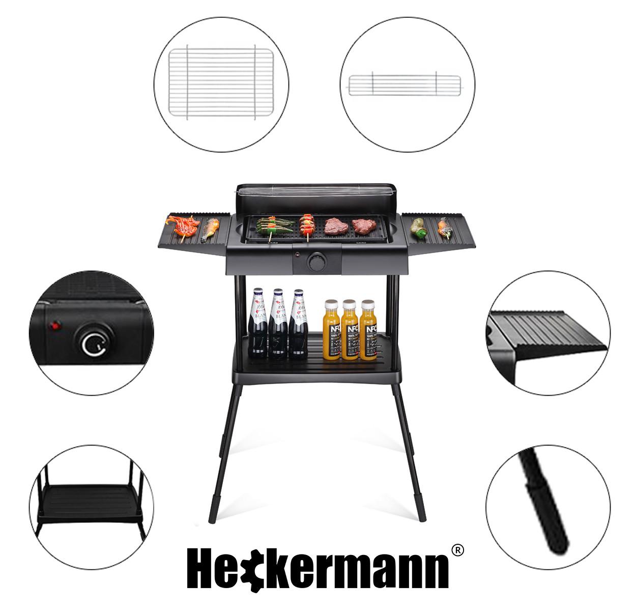 Grill elektryczny Heckermann na białym tle